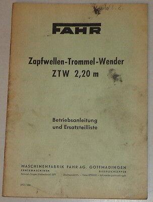 Manual De Instrucciones/catálogo Piezas Rodado Zapfwellen Trommel Wender Ztw Wide Selection; Business & Industrial