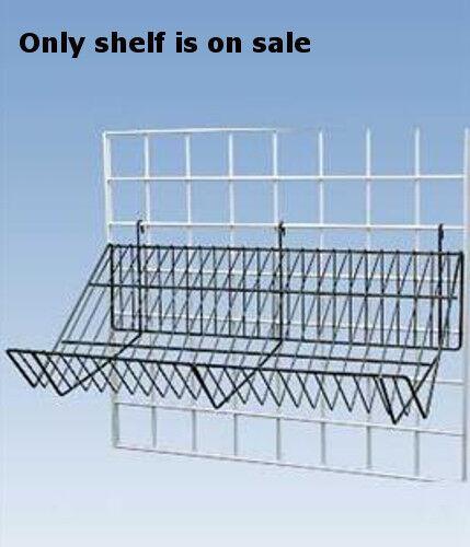 "Lot of 5 Retail Black Downslope Grid Shelf 24/""L x 12/""D x 6½""H"
