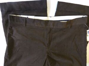 NWT-Gap-Modern-Fit-Cropped-and-cuffed-capris-women-039-s-size-14-dark-brown-corduroy