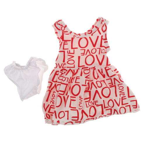 Cute Red Skirt with Letter Pattern Accessory for American Doll 18inch Doll
