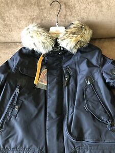 Parajumpers-Right-Hand-Parka-Mens-Medium-Navy-NWT