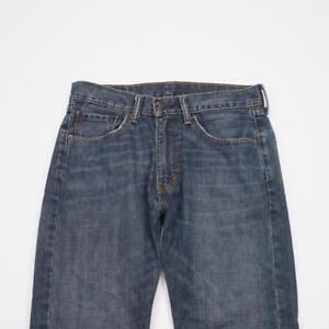 LEVI-STRAUSS-505-Reg-Fit-Straight-Leg-Distressed-Jeans-MedWash-Denim-Mens-31x30