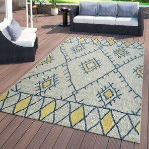 039990a80f1f2e Das Bild wird geladen Flachgewebter-In-amp-Outdoor-Teppich -Ethno-Abstraktes-Geometrisches-