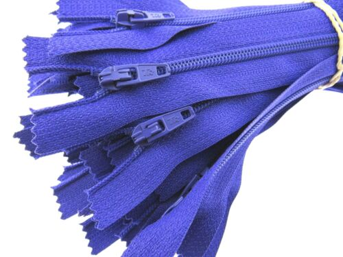 10 x Nylon Closed End Zips Listing 1