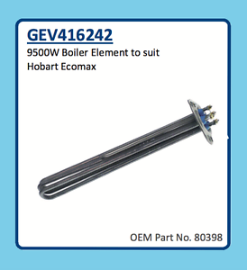 NORRIS MADI HOBART ECOMAX BOILER ELEMENT 9500W GEV416242 80398 ESWOOD SMARTWASH