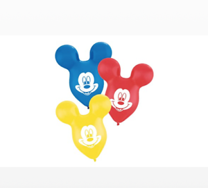 """Mickey Mouse Ears 15/"""" Latex Balloons Pack of 5"""