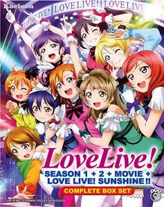 Details about DVD Anime LOVE LIVE! School Idol Project Season 1+2 + Movie +  Sunshine!! Eng Sub