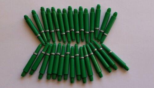 Springs Bulk Pack 30 Nylon Deflectagrip Dart Stems Shafts Green Short //