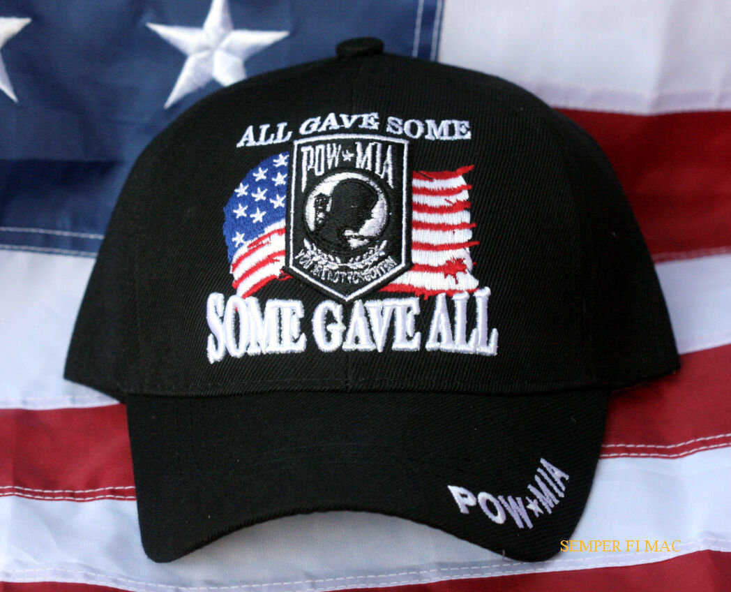 913e4e4da70831 Details about ALL GAVE SOME SOME GAVE ALL POW MIA HAT US ARMY NAVY AIR  FORCE MARINES USCG CAP