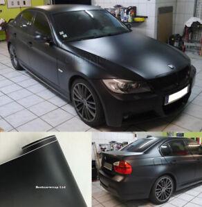 Matte Black Car Wrap >> Details About High Quality Matte Flat Black Vinyl Auto Wrap Film Sticker Foil Air Bubble Free