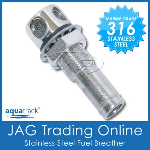 """316 STAINLESS STEEL STRAIGHT FUEL BREATHER VENT 16mm 5//8/"""" Boat//Car//Gas Tank"""
