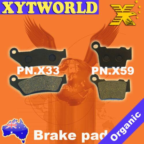 Front Rear Brake Pads HUSQVARNA TC510 TC 510 2005-2009