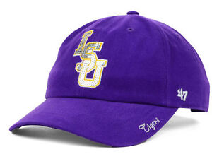 size 40 798bd a7238 Image is loading LSU-Tigers-47-Brand-NCAA-Purple-Gold-Sparkle-