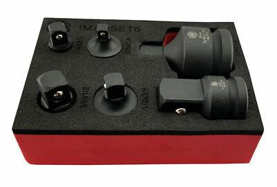 Great Set * Britool Hallmark Socket Convertor Adaptor Reducer Tool Set in Foam