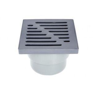 plastique-gris-Drain-de-sol-Piege-150mm-x-150mm-110mm-SOL-Tuyau-d-039-evacuation