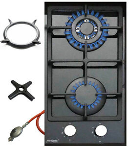 Phoenix-102GBT-Gaskochfeld-Glas-Gaskocher-2-flammig-Guss-Wok-Aufsatz-Herdkreuz