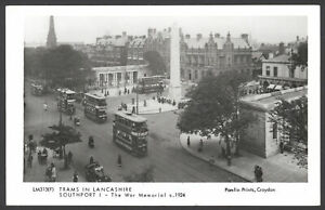 Southport-Lancs-034-Trams-in-Lancashire-034-southport-The-War-Memorial-Postcard