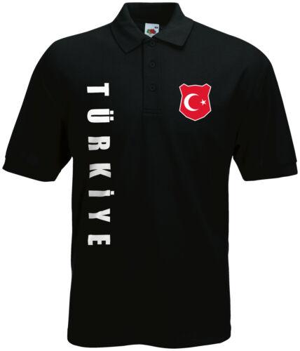 WM 2018 Türkei TÜRKIYE Polo-Shirt Trikot Name Nummer