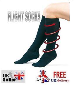 FLIGHT-SOCKS-Mens-Womens-Anti-DVT-Fatigue-Compression-Unisex-Travel-Swelling