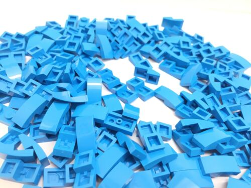 LEGO 11477 10 Pieces NEW 1x2 Azure Blue Curved Slope