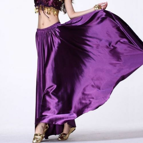 Belly Dance Costume Satin Flamenco Skirt Colourful