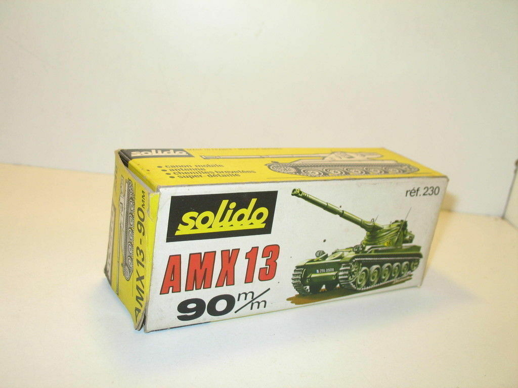 N13, Caja tanque AMX 13 canon 90 militar repro SOLIDO