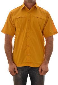 Regatta-Geo-IV-Hombre-Manga-Corta-Camisa-Informal-MS156-B2-Teflon