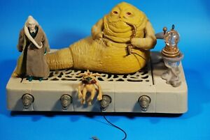 VINTAGE-Star-Wars-COMPLETE-JABBA-THE-HUTT-PLAYSET-FIGURE-play-set