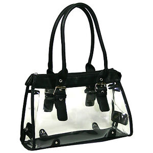 Image Is Loading Women Transparent See Through Bag Purse Clear Handbag