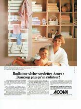 PUBLICITE ADVERTISING 126  1979   Acova  radiateur sèche serviette