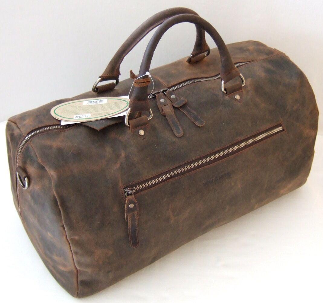 verdeBURRY verdeBURRY verdeBURRY Borsa da viaggio LARGE 52*25*25 cm Manzo Pelle Sport-Borsa weekender 1961 1e5338