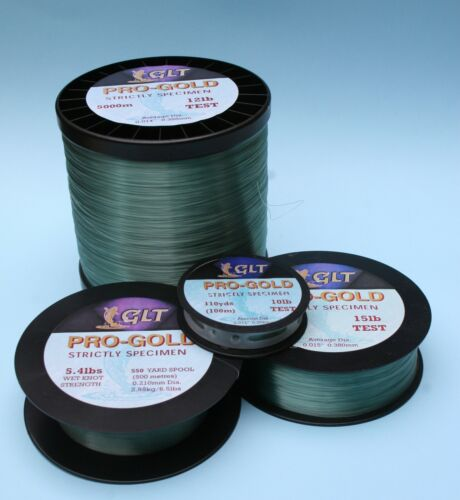 Pro Gold 1000m monofilament fishing line Terry Eustace Gold Label Tackle GLT