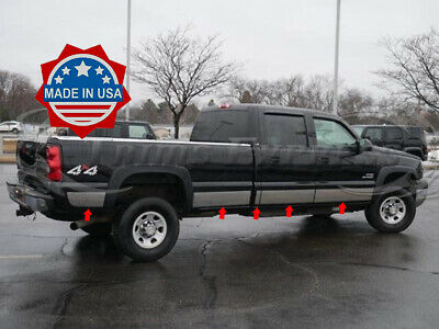 "Chevy Silverado EXT Cab 6.8/' SB 07-13 Stainless Steel 9/"" Rocker Panel 14PC"