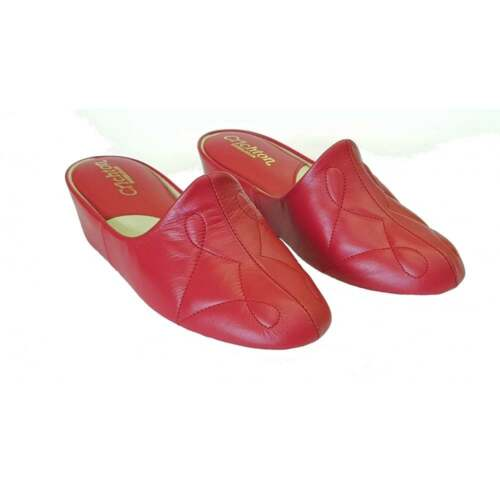 in donna Relax da Dulcie 7312 Pantofole pelle rossa q7wXPU7n