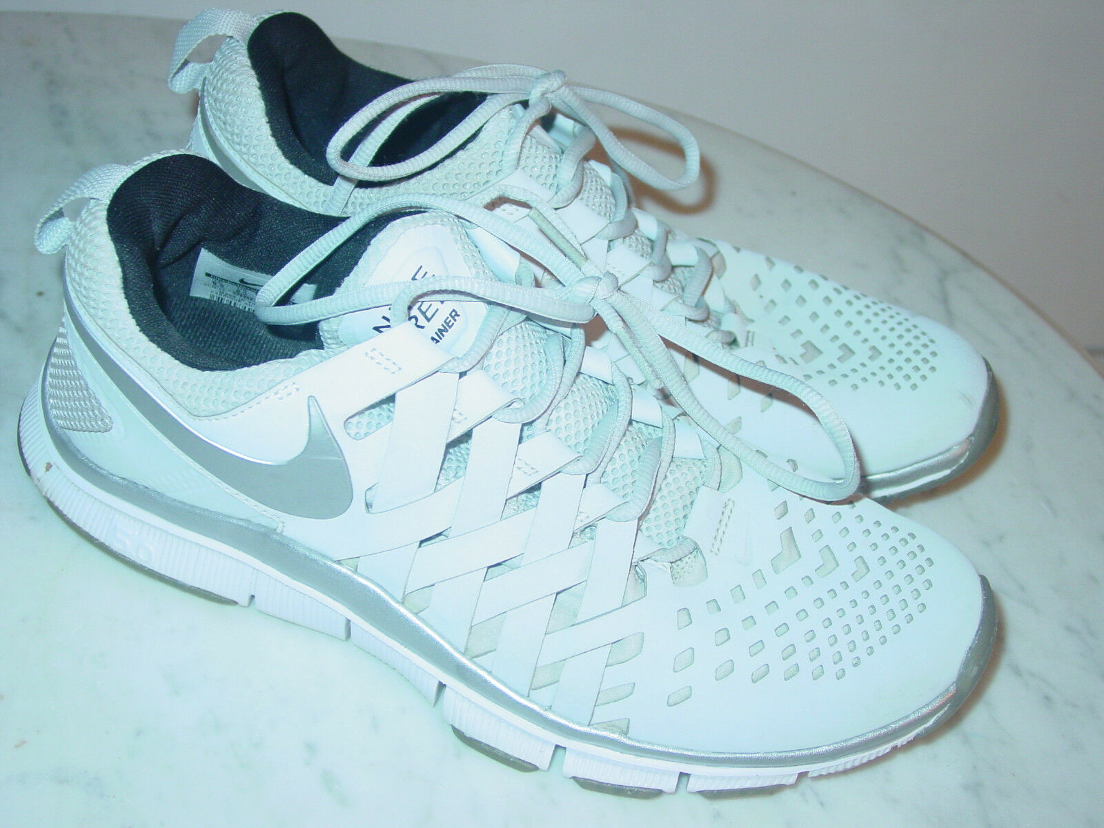 cf6bcbc42b51 2013 Nike Free Trainer 5.0 Pure Platinum Silver Running shoes Size 9.5  160.00