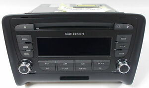 genuine audi tt 8j concert ii mp3 cd radio stereo head unit code rh ebay co uk Haynes Shop Manual Audi TT Audi TT Manual Transmission