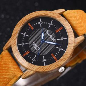 2019-neue-natur-Holz-Uhr-minimalistische-Bambus-Denim-Fashion-Cool-Watch-Unisex