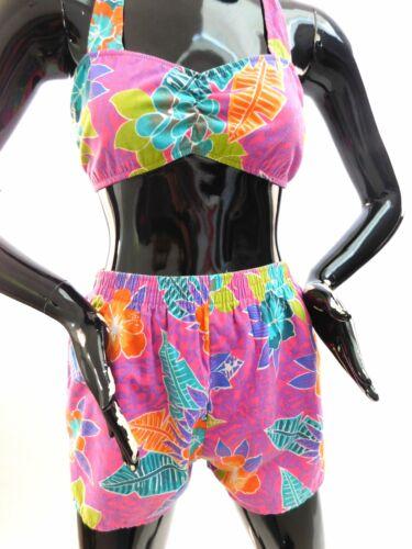 Vintage 1980s cotton bikini play suit