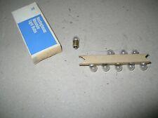 New Miniature Light Bulbs #47 Bayonet Ba9S Base 6.3v 15A Dura Lamp Box Of 10 NOS