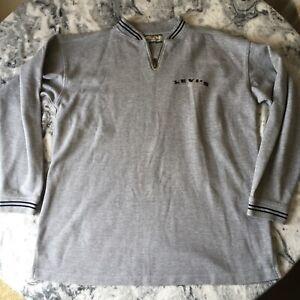 Vintage Levi s Strauss Herren grau 1/4 Zip Sweatshirt großer Pulli Pullover große