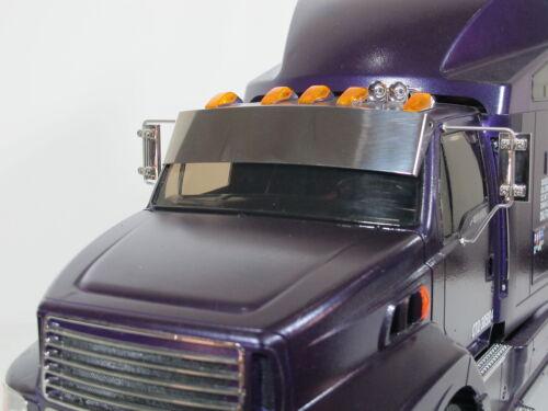 Tamiya Radio Control 1//14 Ford Aeromax Semi Truck avant pare-brise Sun Vent Visière Déflecteur