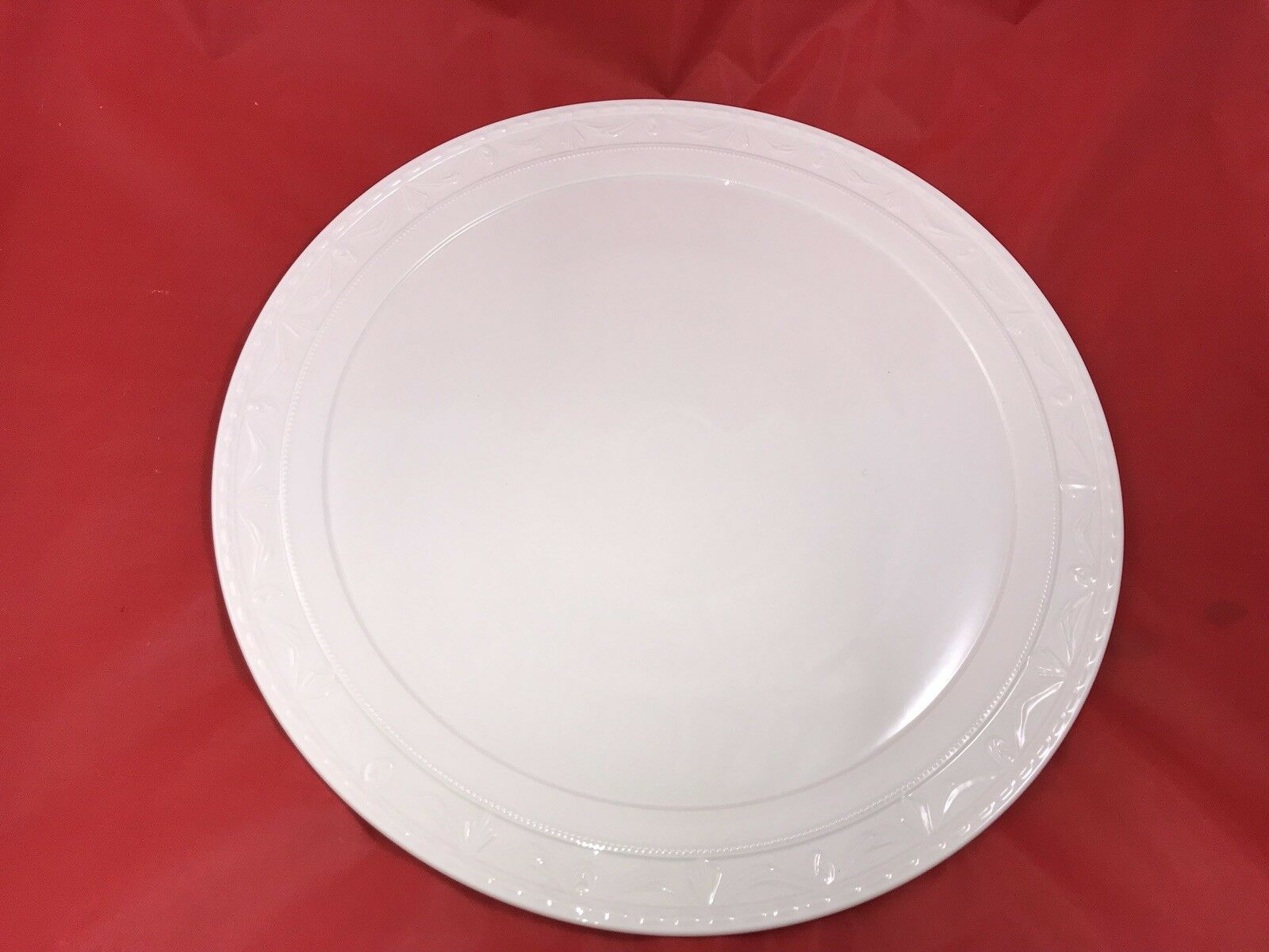 KPM Kurland Berlin Große Platte Teller Rund Weiß 39,5 cm | Merkwürdige Form