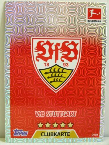 #289 VfB Stuttgart-Club//blason Match Attax 2017//18 Championnat
