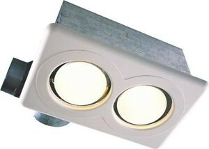 new air king ak927 bathroom exhaust fan two bulb infrared 22153