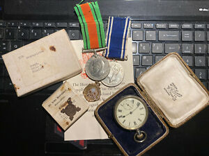 Police-Medals-And-Pocket-Watch-To-Metropolitan-Police-Sergeant-Cyril-Williams