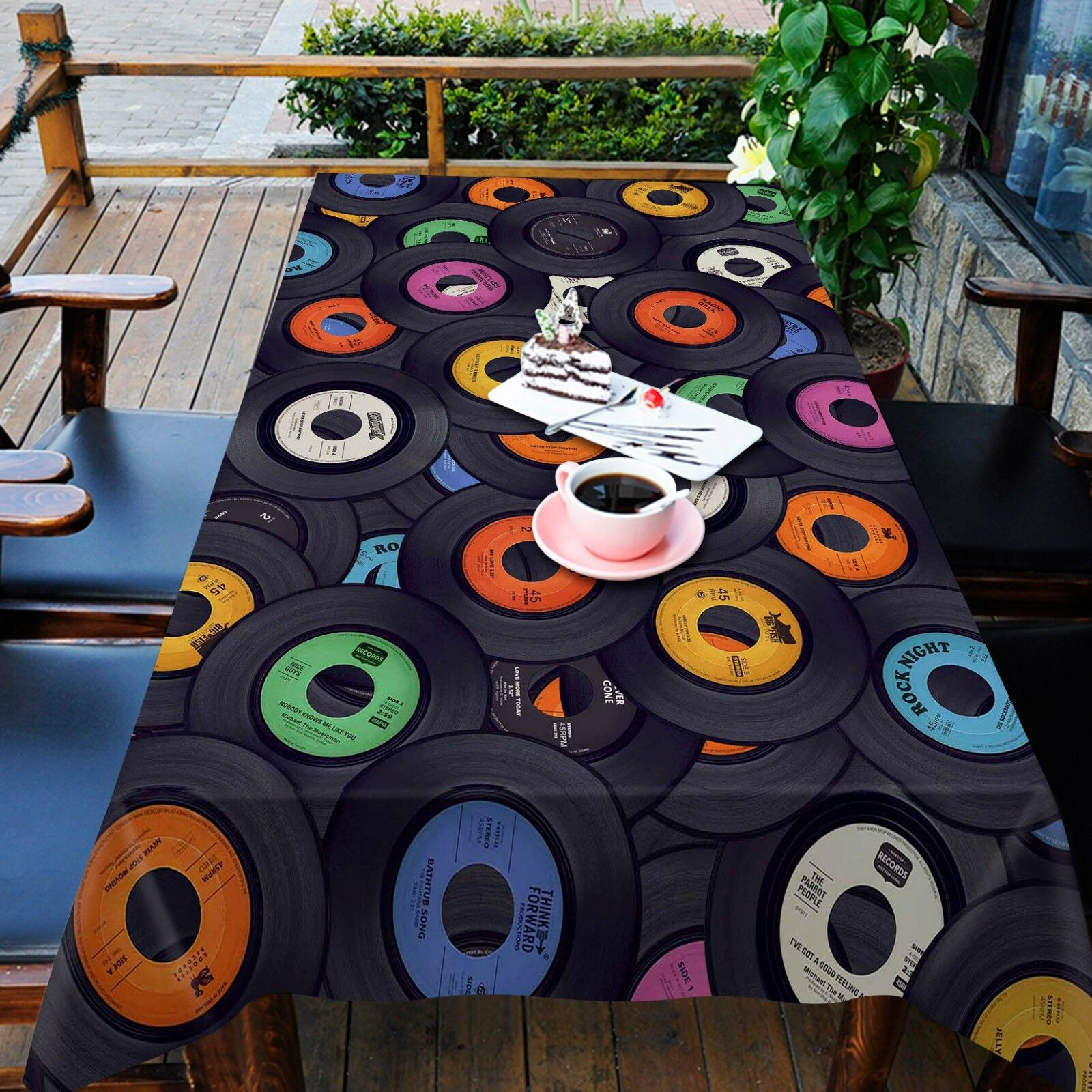 3D Record Paint 266 Tablecloth Table Cover Cloth Birthday Party Event AJ Summer