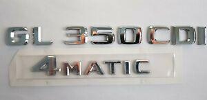GL350cdi GL 350 cdi 4matic Trunk Emblem logo Mercedes emblème du tronc