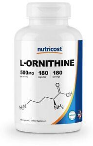 Nutricost-L-Ornithine-500mg-180-Capsules-High-Quality-Non-GMO-amp-Gluten-Free