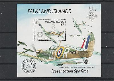 Falkland Inseln Minr. Bl. 7 Postfr., Spifire - Flugzeuge