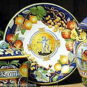 INTRADA Italian Ceramic Decorative Wall Plate w/ Angel & Fruit ...